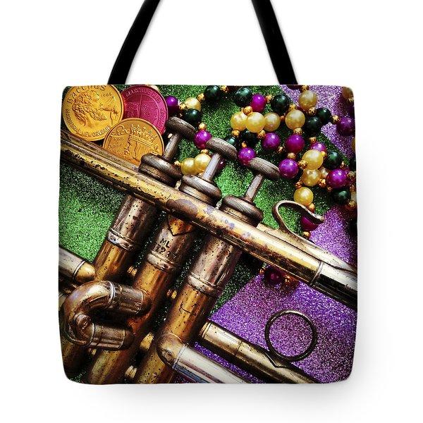 Happy Mardi Gras Tote Bag by KG Thienemann