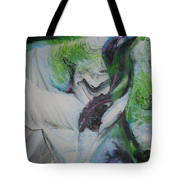 Tote Bag featuring the painting Happy by Mike Breau
