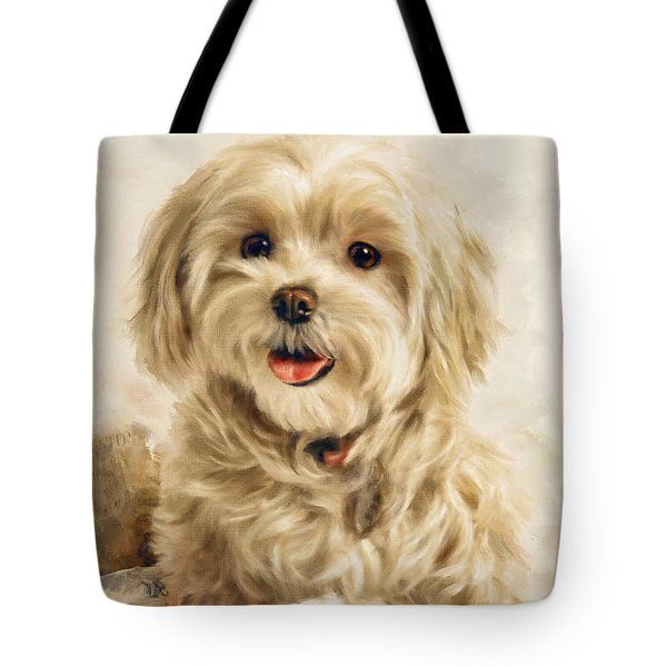 Maltese Happy New Year Tote Bag