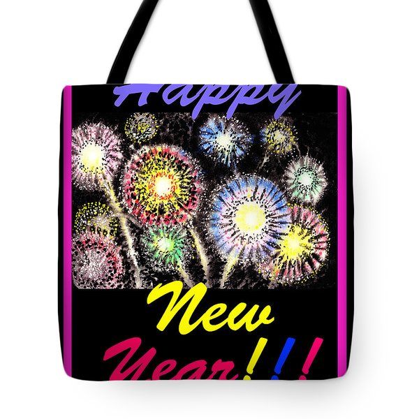 Happy New Year Tote Bag by Irina Sztukowski