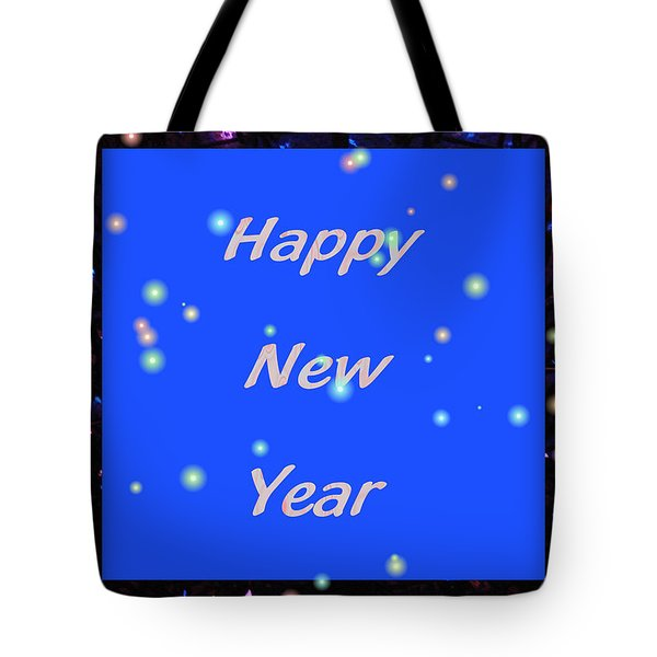 Tote Bag featuring the digital art Happy New Year  by Rosalie Scanlon