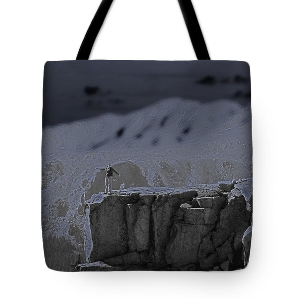 Happy On The Edge Tote Bag by Jeremy Rhoades