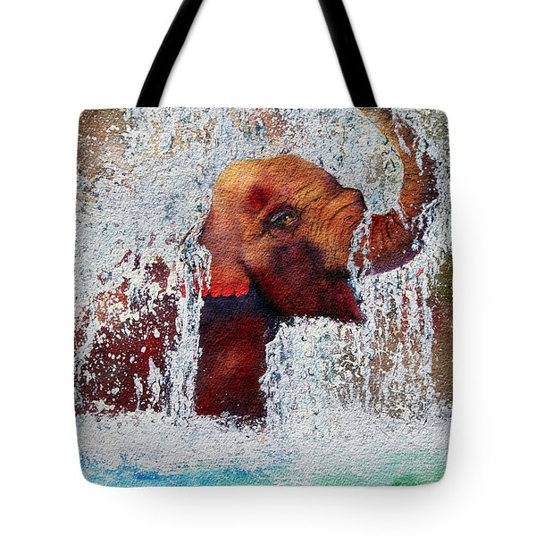 Tote Bag featuring the painting Happy Packy by Diane DeSavoy