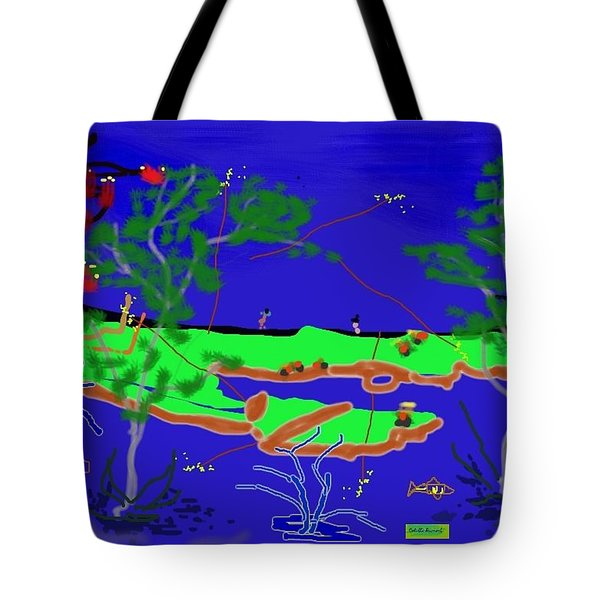Happy Peninsula Digital Painting Tote Bag by Colette Dumont