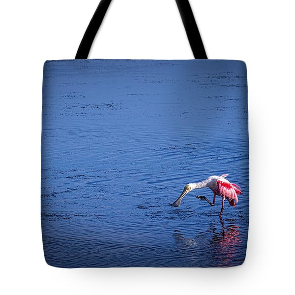 Happy Spoonbill Tote Bag
