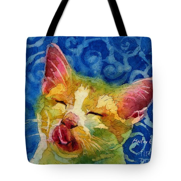 Happy Sunbathing Tote Bag