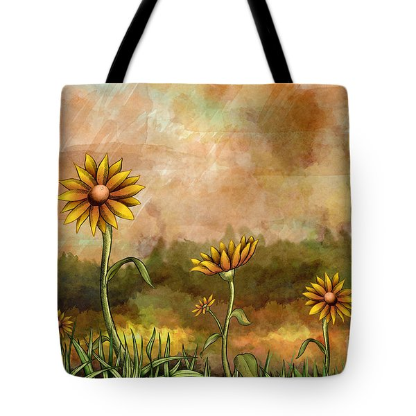 Happy Sunflowers Tote Bag by Bedros Awak