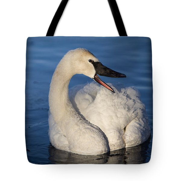 Tote Bag featuring the photograph Happy Swan by Patti Deters