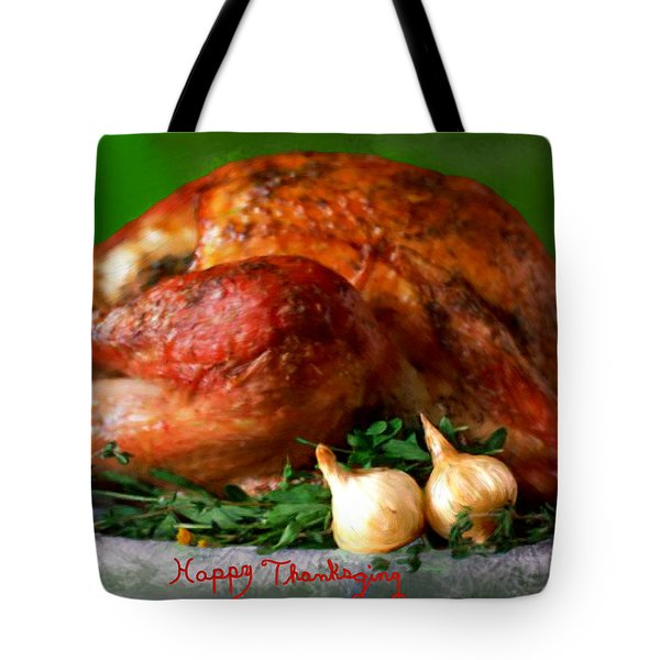 Happy Thanksgiving Tote Bag by Bruce Nutting