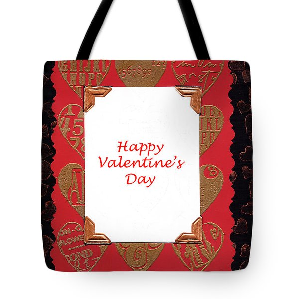 Tote Bag featuring the photograph Happy Valentines Day Card by Vizual Studio