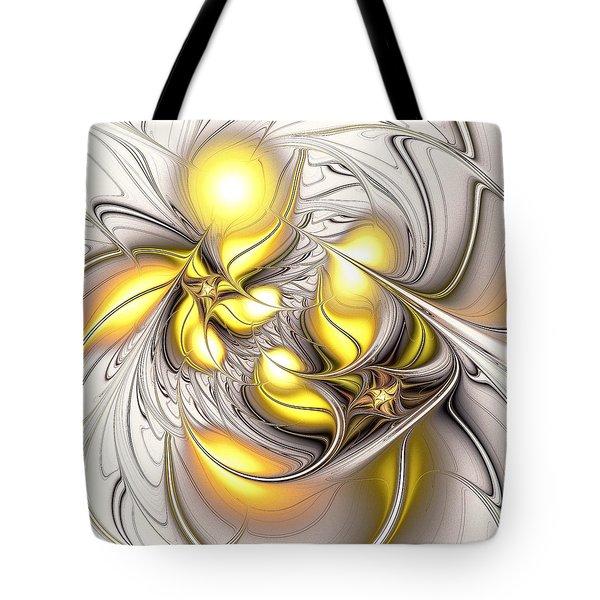 Happy Yellow Tote Bag by Anastasiya Malakhova