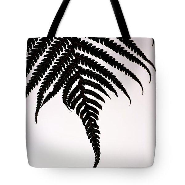 Hapu'u Frond Leaf Silhouette Tote Bag