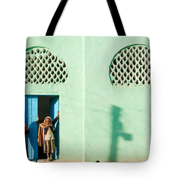 Harar Ethiopia Old Town City Mosque Girls Children Tote Bag
