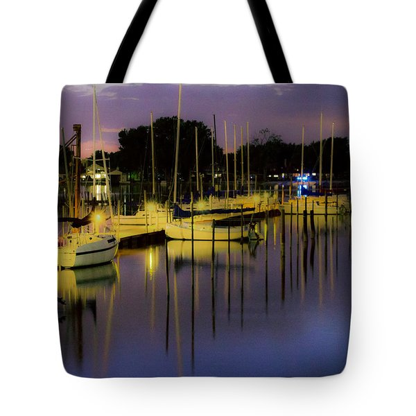 Harbor At Night Tote Bag
