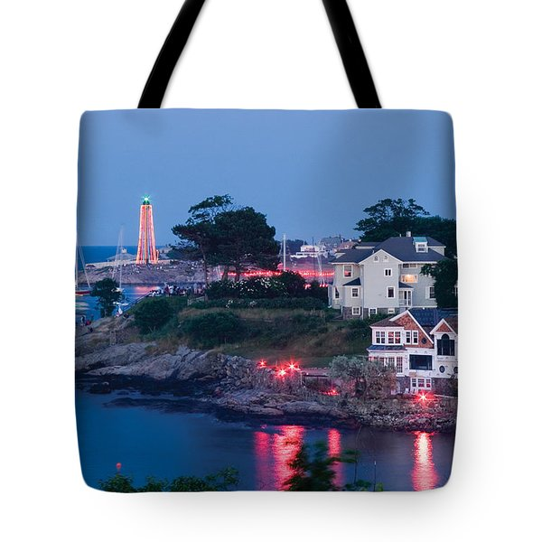 Marblehead Harbor Illumination Tote Bag