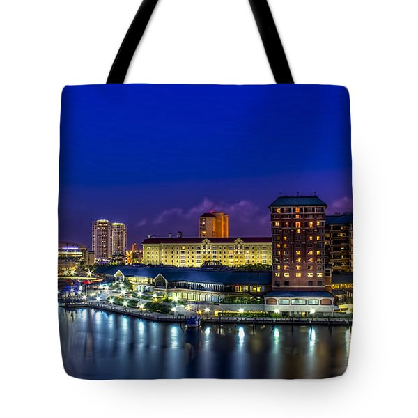Harbor Island Nightlights Tote Bag