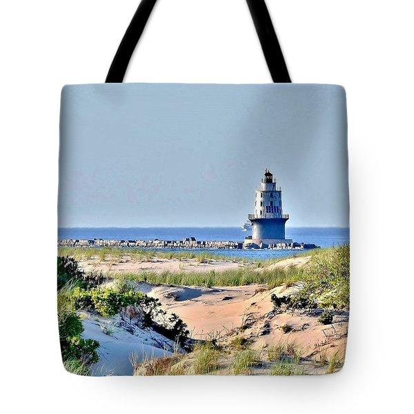 Harbor Of Refuge Lighthouse Tote Bag