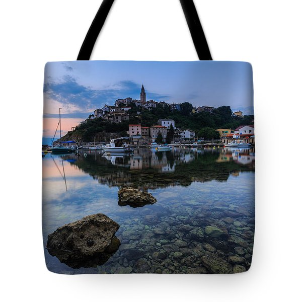 Harbor Reflection Tote Bag by Davorin Mance