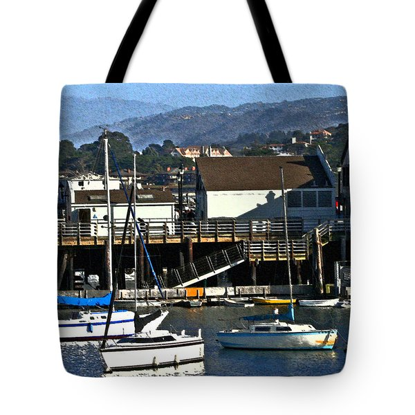 Harbor Sailboats Tote Bag