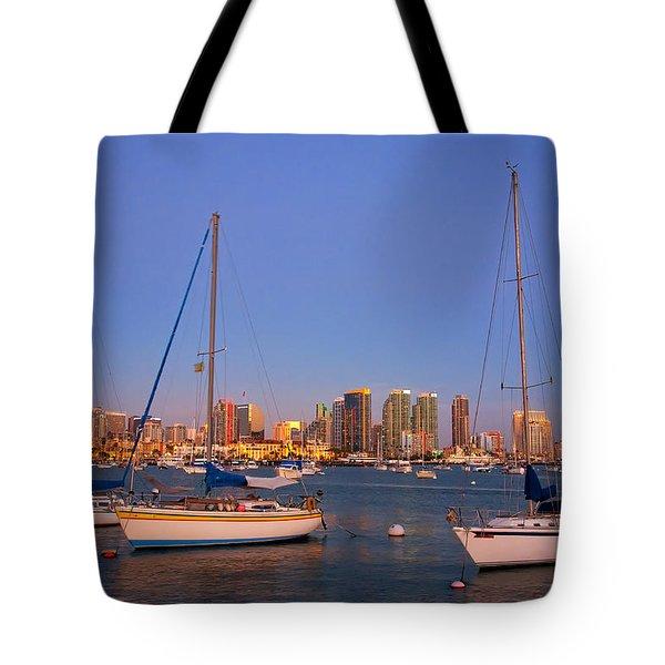 Harbor Sailboats Tote Bag