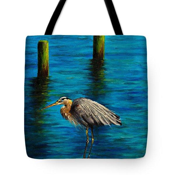 Harbor Sentry Tote Bag by C Steele