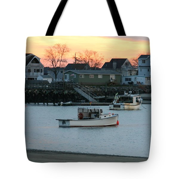 Harbor Sunset Tote Bag by Denyse Duhaime