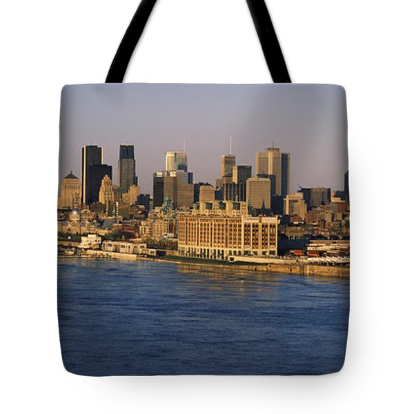 Harbor With The City Skyline, Montreal Tote Bag
