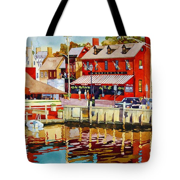 Harborfront Tavern Tote Bag