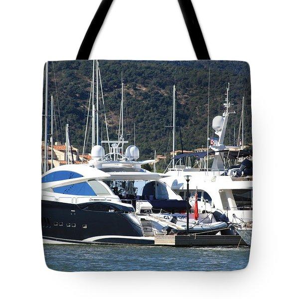 Harbour Docking Scene Tote Bag