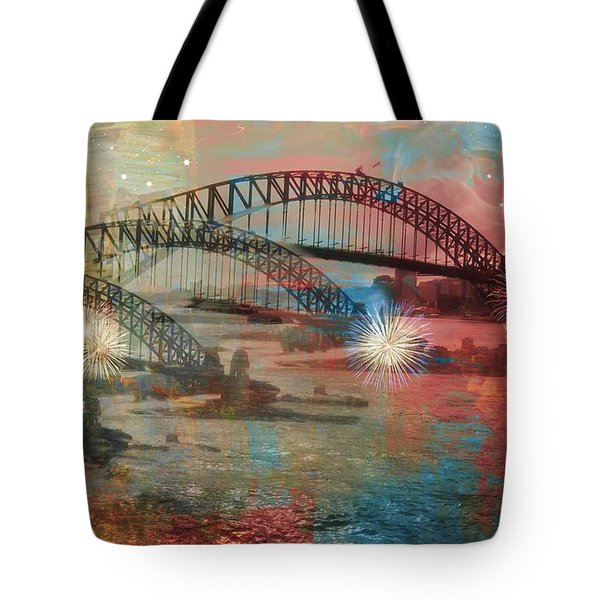 Tote Bag featuring the photograph Harbour In Abstraction by Leanne Seymour