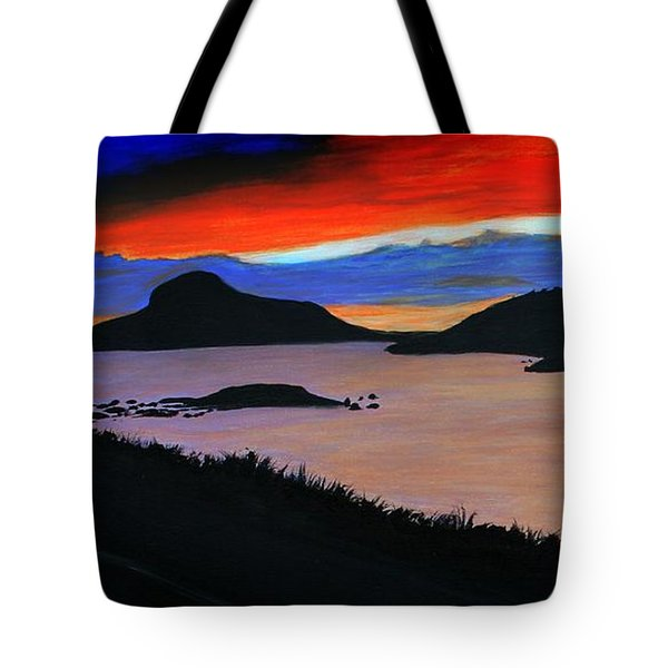 Harbour Sunset Tote Bag by Barbara Griffin