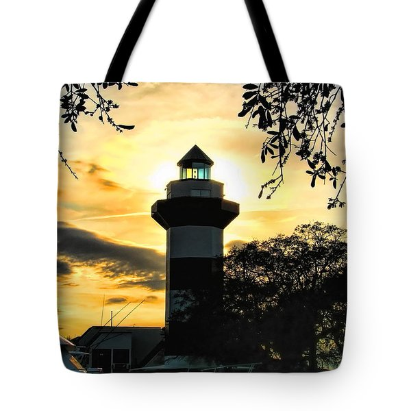 Harbour Town Lighthouse Beacon Tote Bag
