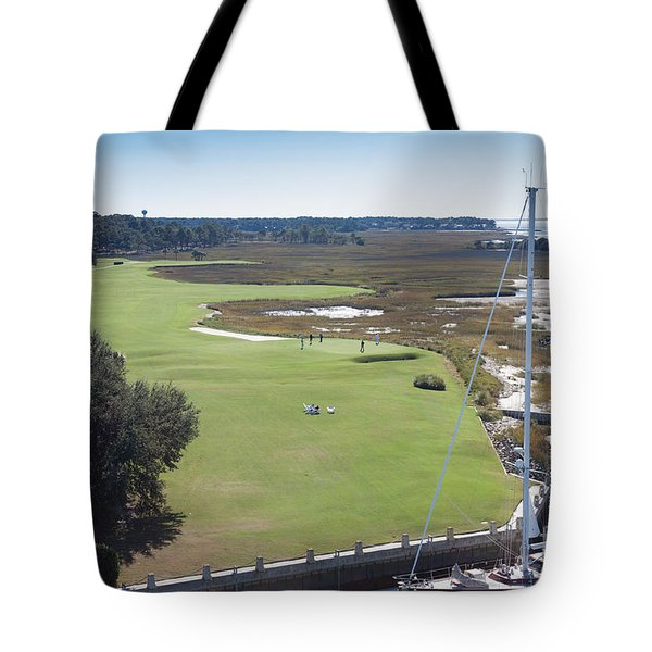 Harbourtown Golf Course 18th Hole Tote Bag