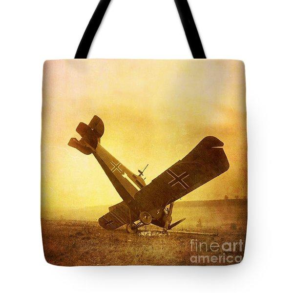 Hard Landing Tote Bag by Edward Fielding
