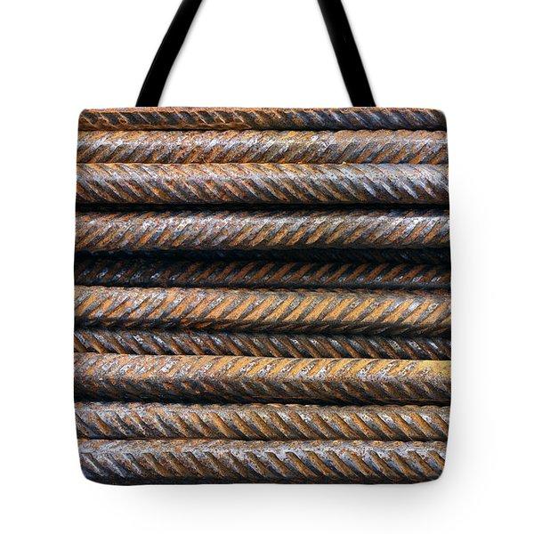 Hard Metal Rebar Pattern Tote Bag