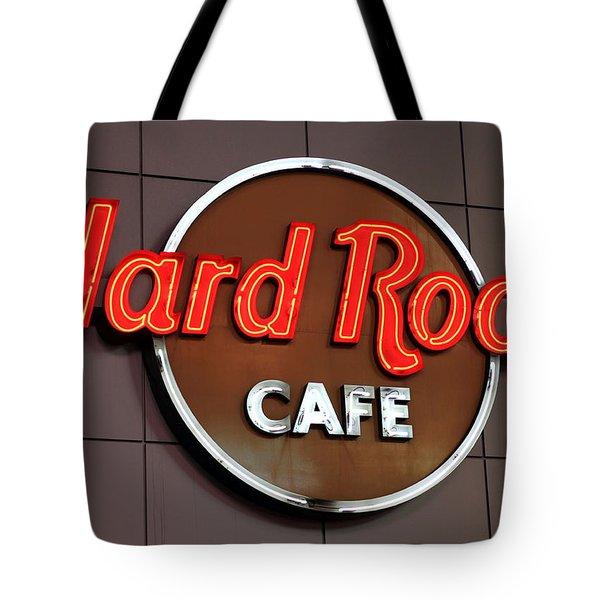 Hard Rock Cafe Sign Tote Bag