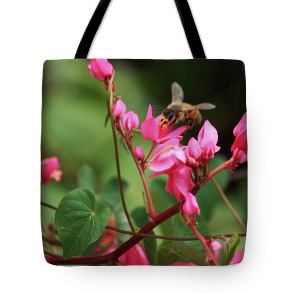Tote Bag featuring the photograph Hard Working Bee by Craig Wood