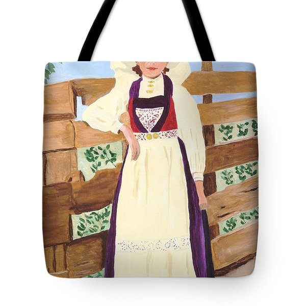 Tote Bag featuring the painting Hardanger Girl by Rodney Campbell