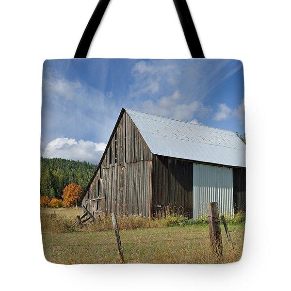 Hardy Creek Road Barn Tote Bag