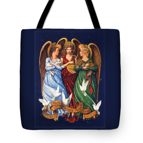 Hark The Herald Angels Sing Tote Bag