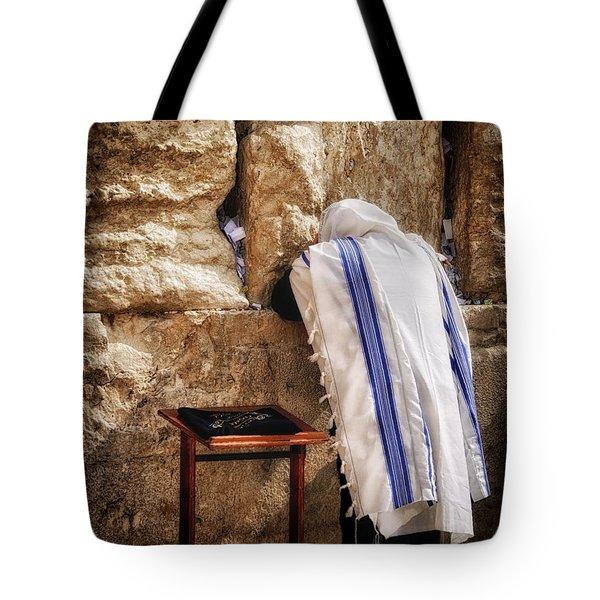 Harken Unto My Prayer O Lord Western Wall Jerusalem Tote Bag