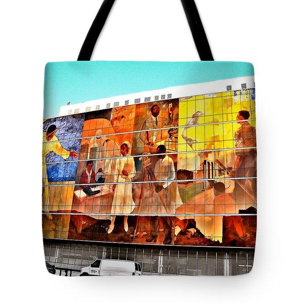 Harlem Hospital Mural Tote Bag