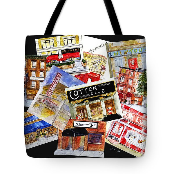 Harlem Jazz Clubs Tote Bag by AFineLyne