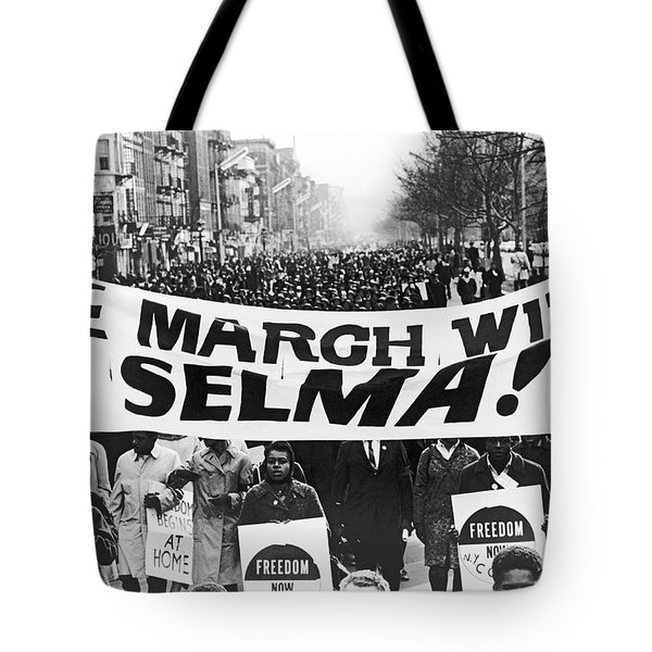 Harlem Supports Selma Tote Bag by Stanley Wolfson