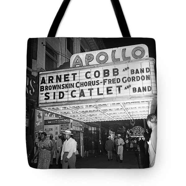 Harlem's Apollo Theater Tote Bag by Underwood Archives Gottlieb