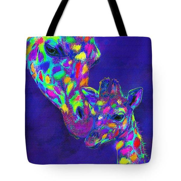 Harlequin Giraffes Tote Bag