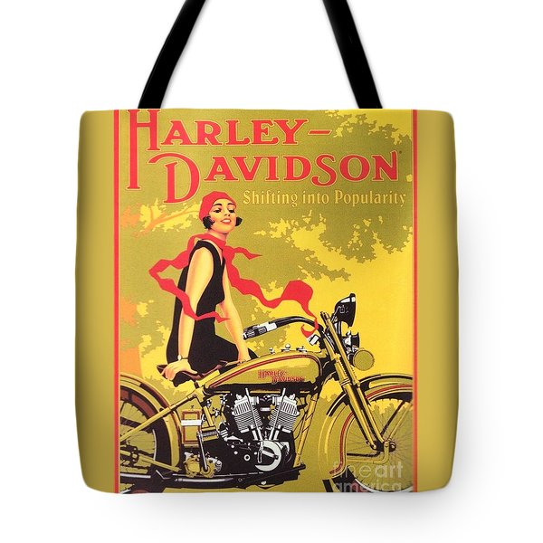 Harley Davidson 1927 Poster Tote Bag by Reproduction
