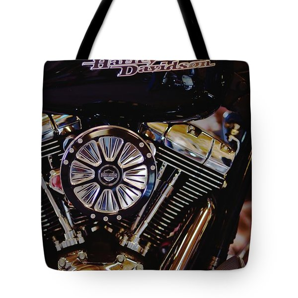 Harley Davidson Abstract Tote Bag