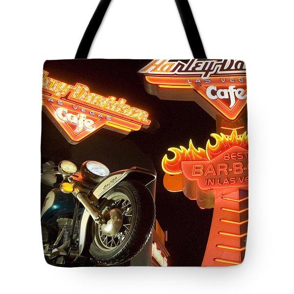 Harley Davidson Cafe Tote Bag by Bob Christopher