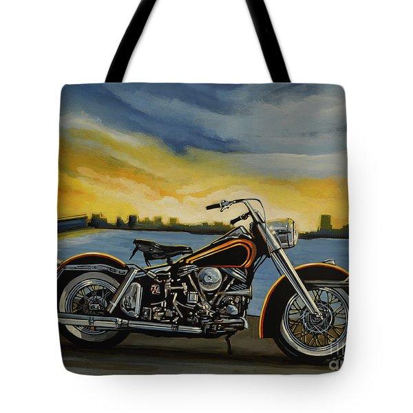 Harley Davidson Duo Glide Tote Bag